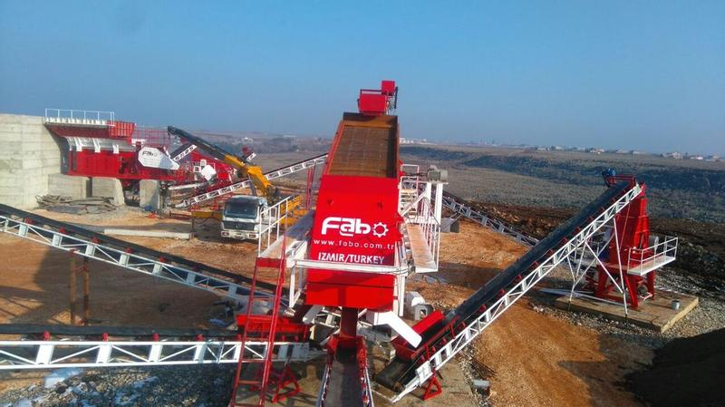 Fabo HIGH QUALITY STATIONARY HARDSTONE CRUSHING/SCREENING PLANT