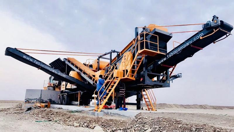 Fabo MOBILE CRUSHING&SCREENING PLANT PRO-90|READY IN STOCK|LIMESTONE